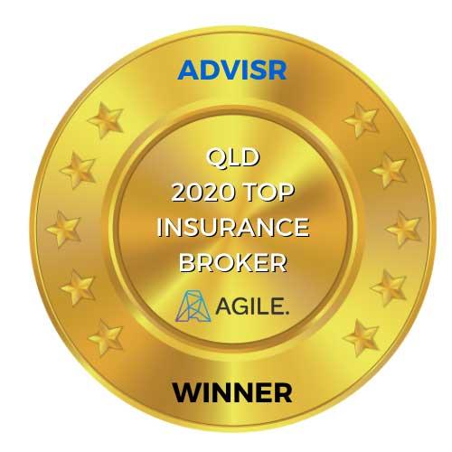 QLD 2020 top insurance broker medal