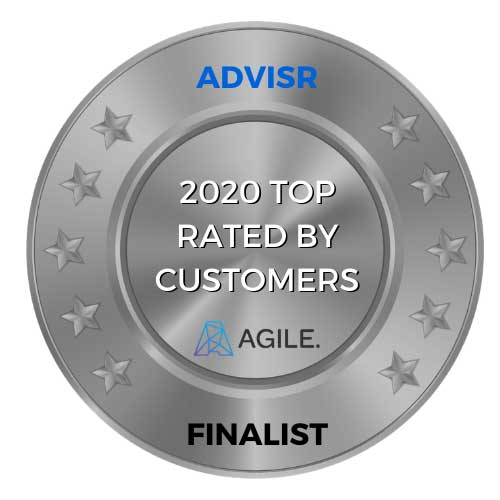 2020 top insurance broker rated by customers award medal